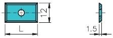 HM žiletka 20x12x1,5 4s HC05